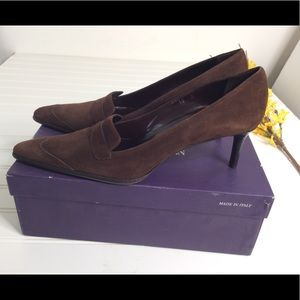 Ralph Lauren Suede pointed toe Pump shoes Italy
